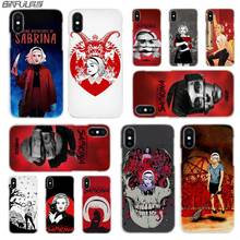 BINFUL iphone case cover transparent for iPhone X XR XS Max 8 7 6s 6 Plus 5 5s XI R 2019 4s Chilling Adventures Sabrina