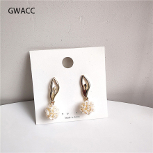 GWACC 2019 NEW Design Dancing Girl Drop Earrings For Women Pearls Super Fairy Gold Color Metal Funny Fashion Jewelry