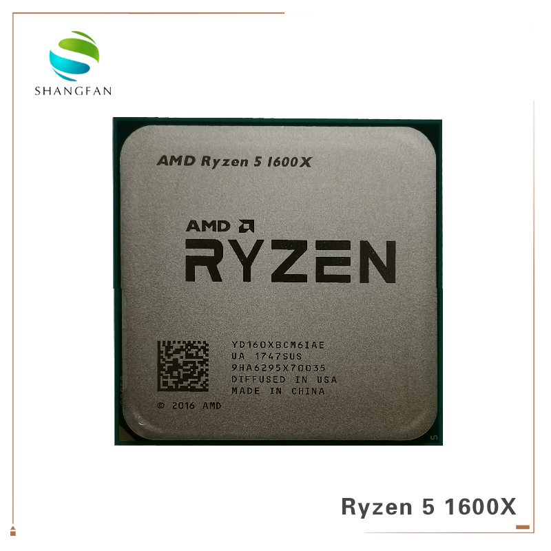 Image 5 - New AMD CPU Process Ryzen 5 1600X R5 1600X 3.6 GHz Six Core Twelve Thread CPU Processor 95W L3=16M YD160XBCM6IAE Socket AM4-in CPUs from Computer & Office