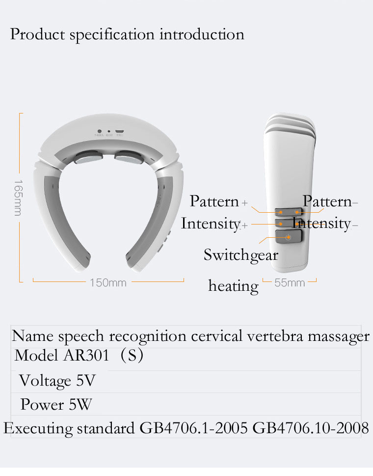 Arwei Speech Recognition Wireless Neck Massager Massage Neck Therapy Instrument Low Frequency Pulse Acupuncture erhan mengusoglu confidence measures for speech speaker recognition