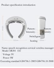 Arwei Speech Recognition Wireless Neck Massager Massage Neck Therapy Instrument Low Frequency Pulse Acupuncture emotion recognition in continuous mandarin chinese speech