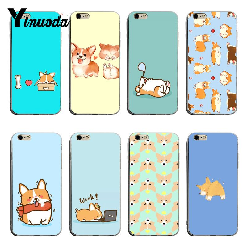 Clever Yinuoda Cute Lovely Corgi Dogs Animal Hot Selling Fashion Design Skin Thin Tpu Cell Case For Iphone 7 8plus 6splus Xsmax X Xs Xr