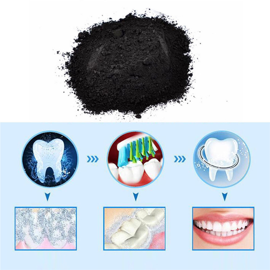 Organic Activated Charcoal Bamboo Teeth Whitening Powder