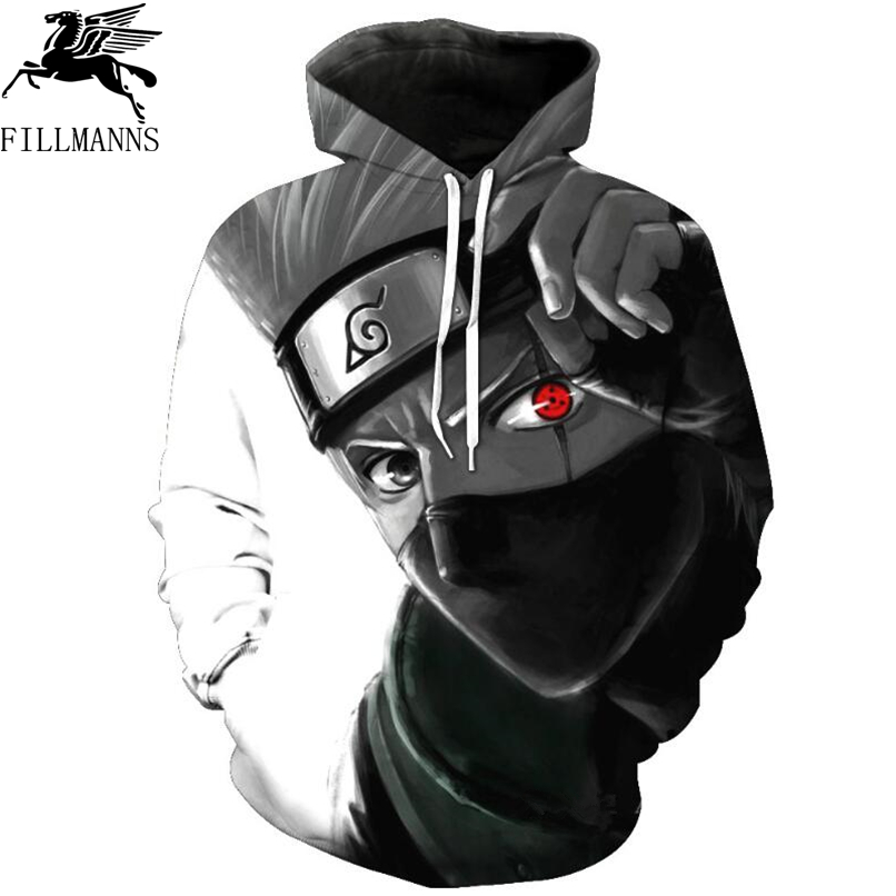 Naruto Hoodies Men 3D Printed Pullovers Sportswear Sweatshirts 2018 Spring male Hoodie Naruto cosplay Long sleeve clothing