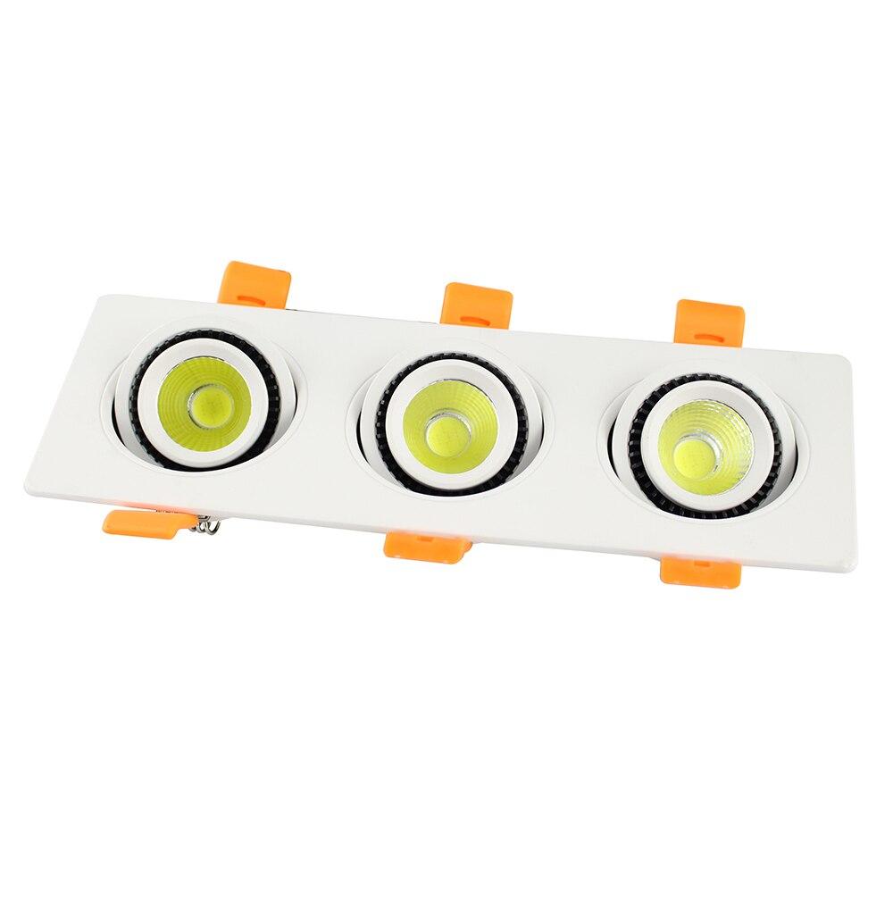 1 pcs Haute Luminosité COB 3X9 W Carré Led downlight AC85-265V Epistar puce led plafond spot lampe Froid/blanc chaud éclairage intérieur