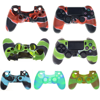 silicone cover skin for dualshock 4 ps4 pro slim controller case and thumb grips caps for play station 4 game accessories Silicone Cover For PS4 Gamepad Case Skin Slim For Play Station 4 Joystick Controller Sticker For Sony PS4 Cover Case Accessories