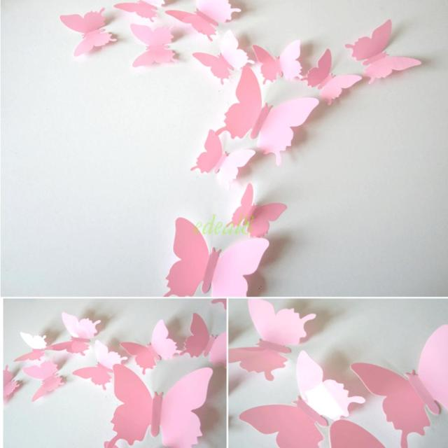 Butterfly Wall Decals D Wall Murals Ideas - Butterfly wall decals 3d