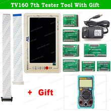 TV160 6th 7th Generation LVDS Turn VGA Converter With Display LCD/LED TV Motherboard Tester Mainboard Tool +  Multimeter/Scraper