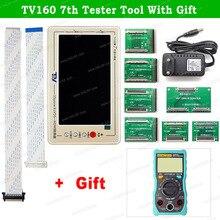 جهاز اختبار اللوحة الأم TV160 الجيل السابع LVDS محول VGA مع شاشة LCD/LED TV أداة اختبار اللوحة الرئيسية + مقياس متعدد/مكشطة