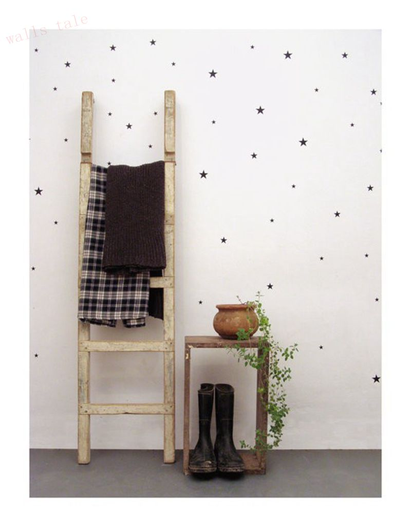 Stars pattern vinyl wall art decals nursery room decoration wall gold stars pattern vinyl wall art decals nursery room decoration wall stickers for kids rooms home decor amipublicfo Gallery