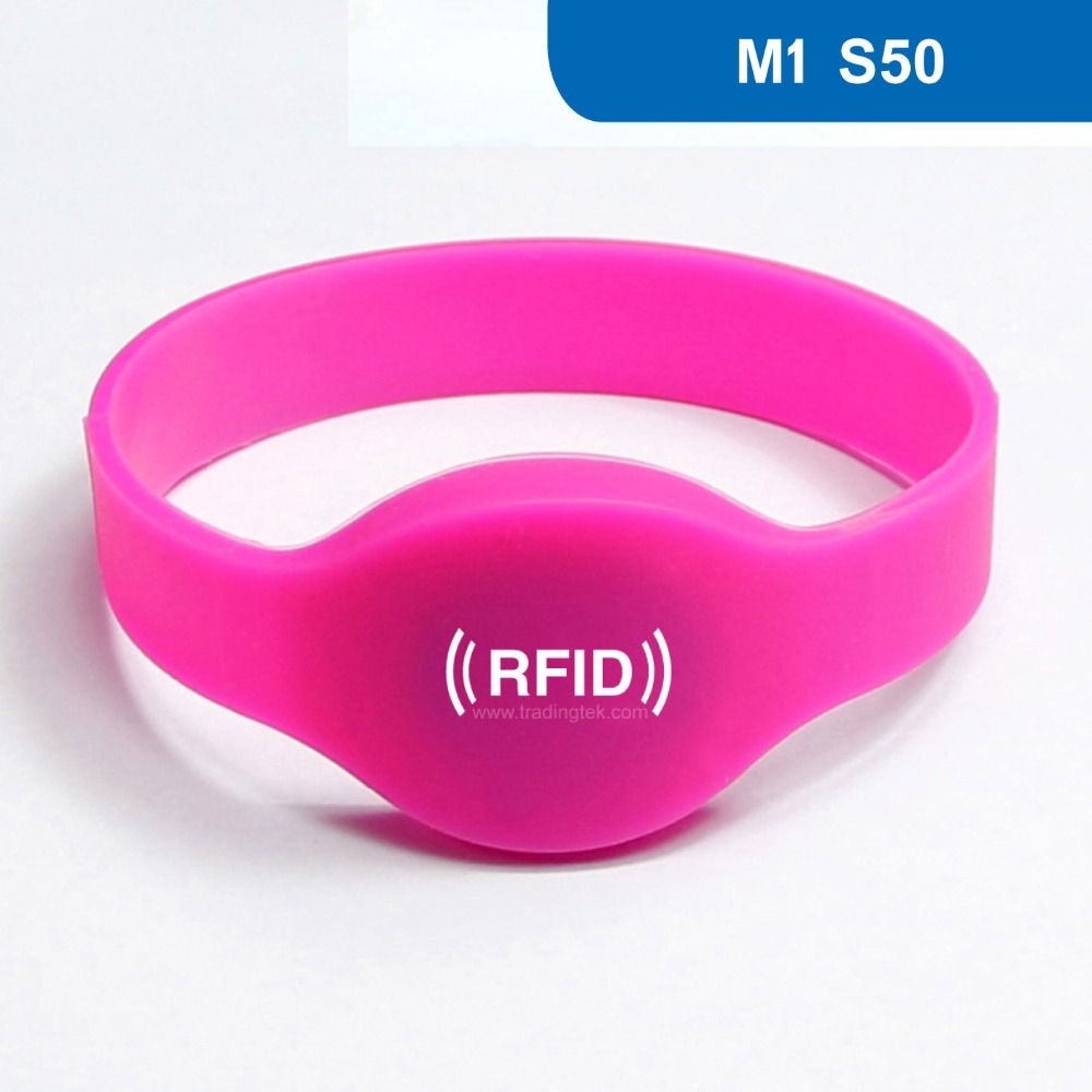 WB01 RFID Wristband With MF1 S50 for Access Control, NFC Bracelet ISO 14443A,13.56MHz, MF1 Classic S50 Chip Free Shipping wb01 hot sales silicone rfid wristband for access control nfc bracelet iso14443a 13 56mhz with m1 s50 chip free shipping