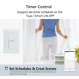 Image 3 - Zemismart WiFi TREO TƯỜNG Đẩy Công Tắc Đèn Làm Việc Với Alexa Google Nhà Cho Phép Tuya Cuộc Sống Thông Minh Ứng Dụng Điều Khiển Mỹ 1 2 3 Băng Đảng