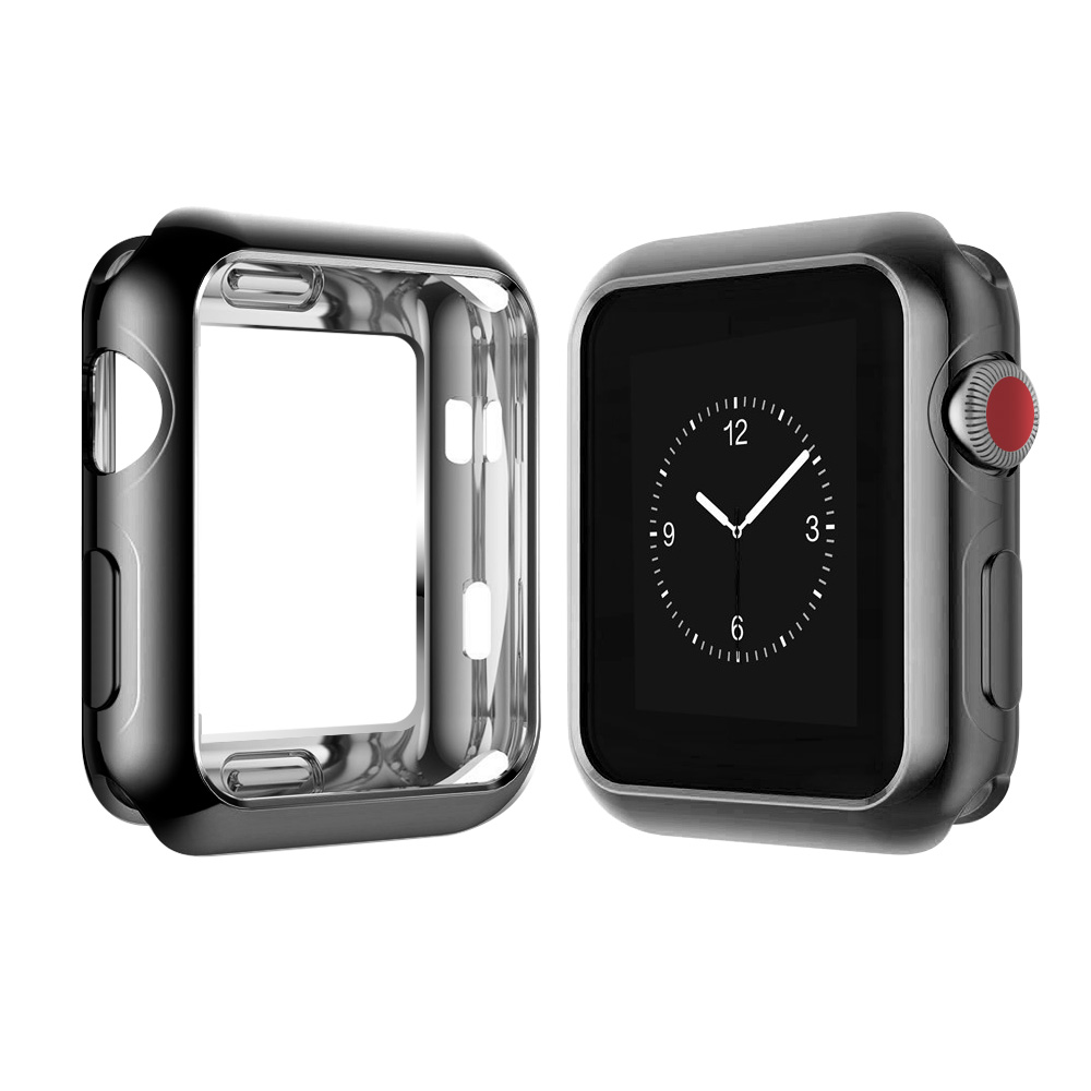 Apple Watch Protect Case frame Soft TPU Case Cover For Apple Watch series 3 iWatch 38 /42mm Watch Accessories series 2 series1 tpu clear slim soft case cover 38 42mm cover screen protector film accessories for apple watch 1 2 3