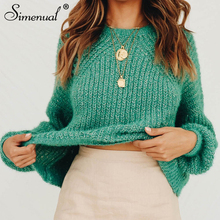 Simenual Knitted Fashion Solid Women Sweater Autumn Winter Casual Pullover Basic Long Sleeve Jumpers Hollow Out 2019 New