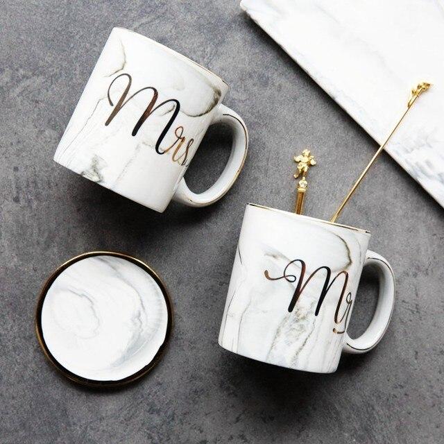 Marmor Phnom MR & MRS liebhaber der kaffeetasse/gläser keramik