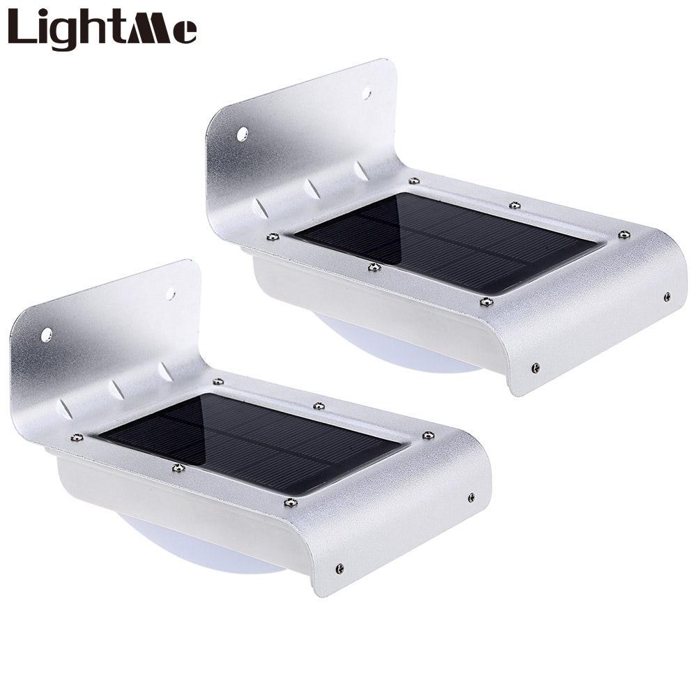 Lightme Solaire Motion Sensor Lumière 16 Led Sans Fil PIR Motion Sensor LED Mur Lampe Éclairage De Sécurité Extérieur 2018 D'origine 2 pcs