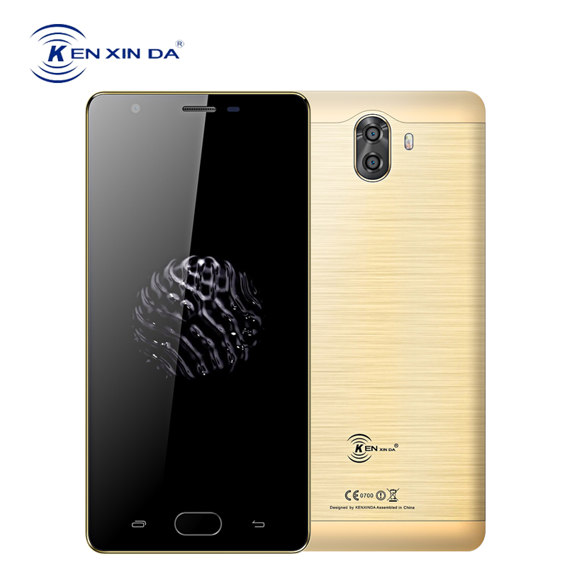 KenXinDa S6 Global 4G Smartphone 5.0 Inch Fingerprint Android 7.0 2GB+16GB Quad Core Telefon Dual Back Camera 13.0MP Cell Phones