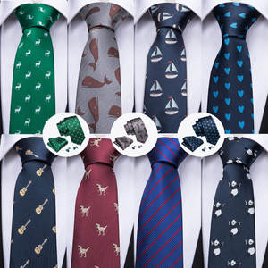 Barry.Wang Tie For Men 100% Silk Tie Square Set