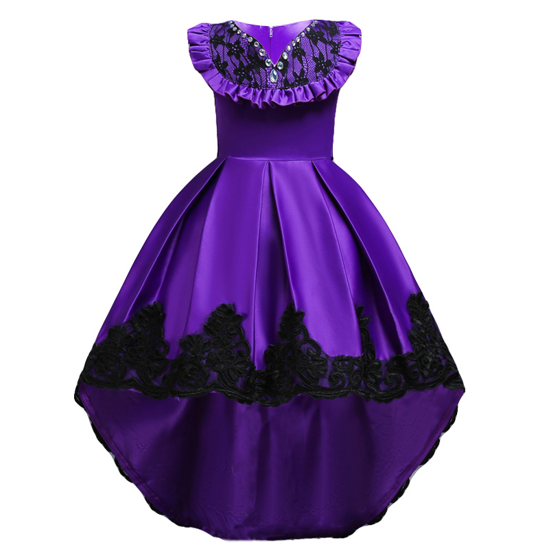 Blue Rose Wedding Bridesmaid Pageant Flower Girl Party Dress Gown Size 8 Age 7-9