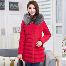 купить Brieuces 2018 New Fashion Women Winter Jacket With Fur collar Warm Hooded Female Womens Winter Coat Long Parka Outwear Camperas дешево