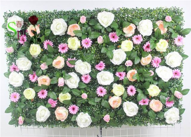 SPR Free Shipping-10pcs/lot Artificial wedding rose flower wall background arrangement flowers road lead flowers decorations