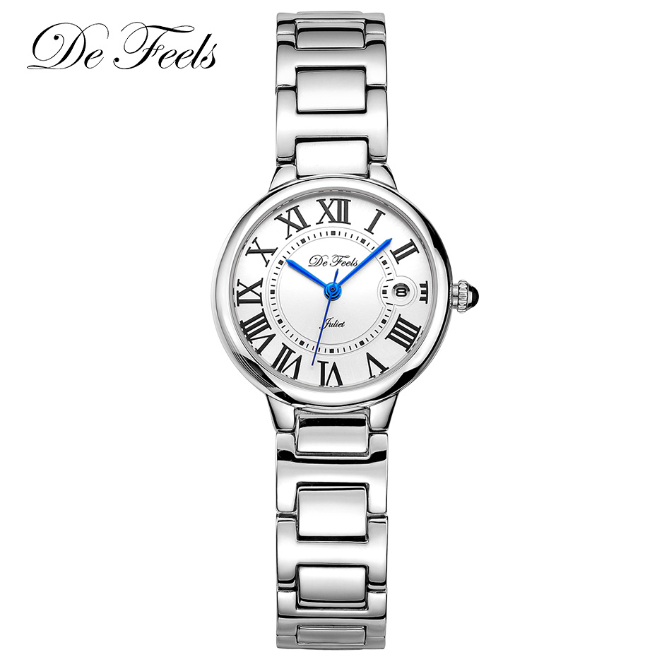 High Quality Ladies Watch Luxury Women's Fashion Watches Stainless Steel Dress Wristwatches Relogio Feminino De Feels Clock