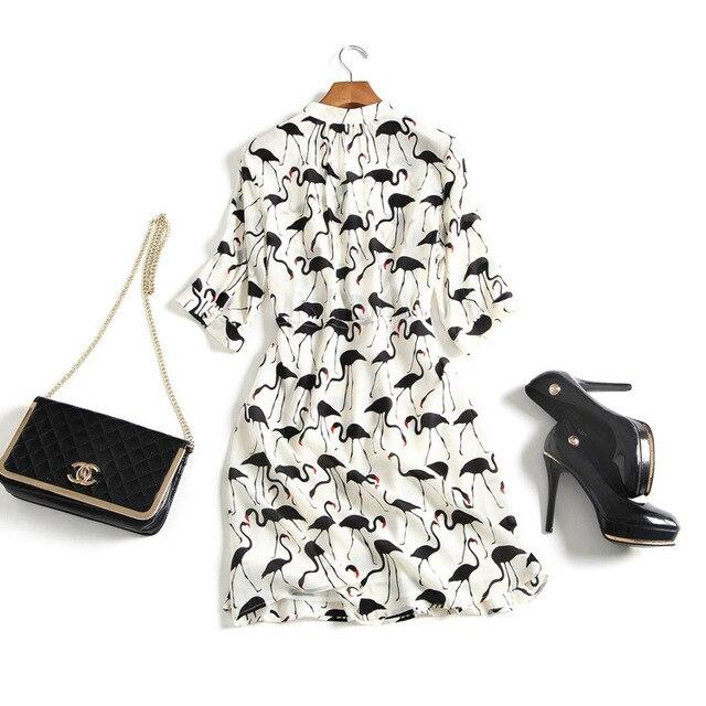dec113ffd393f6 syigw PureBliss summer deep v neck silk flamingo midi dress-in ...