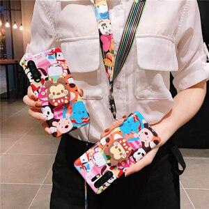 3 шт., чехол для Huawei P30 P20 toy Zoo, мягкий чехол с милым мультяшным рисунком для Huawei mate20 20X pro Honor 20, чехол + подставка + ремень