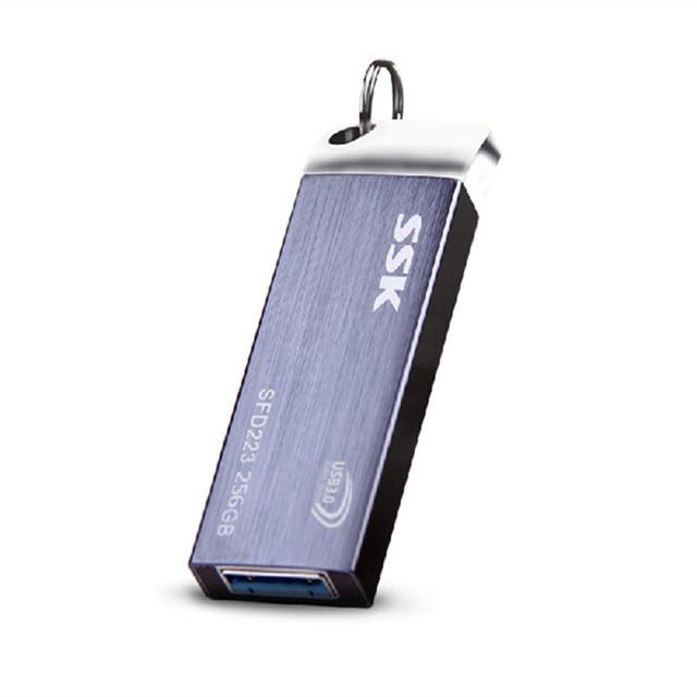 SSK SFD223 USB 3.0 Flash Drive 100% 256GB Pen Drive Metal High Speed Memory Usb Stick Free shipping Writing speed: 105 MByte/s