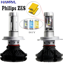 X3 H1 H3 H4 H7 H11 9005 9006 Car LED Headlights Bulbs 50W 6000LM with Philips