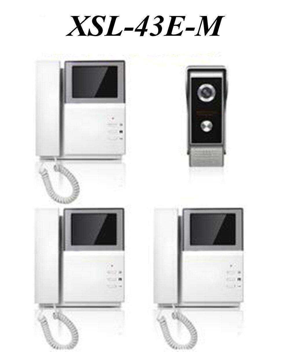 4.3 Inch 1v3 TFT Monitor Intercom Video Door Phone XSL-43E156-M