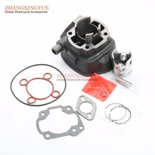 50cc cilindro kit & cabeça do cilindro & virabrequim & junta do cilindro para malaguti f12 fantasma r 50cc lc f15 firefox 50cc 40mm/10mm