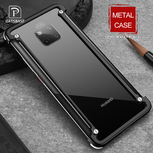 Image 1 - OATSBASF with Airbag Metal Frame shape phone Case For Huawei Mate 20 Pro 20 RS 20X 20 luxury phone bumper with back film gift