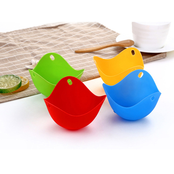 1/4Pcs/Set Steamed Bowl Multi-function Egg Box Silicone Egg Poacher Cookware Poached Baking Cup Kitchen Cookware Baking Mold 2