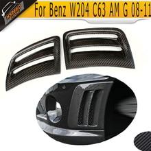 Углеродное волокно спереди вентиляционный щиток на крыло крышка для Benz Авто боковые вентиляционные крышки для W204 C63 бампер AMG 2008-2011