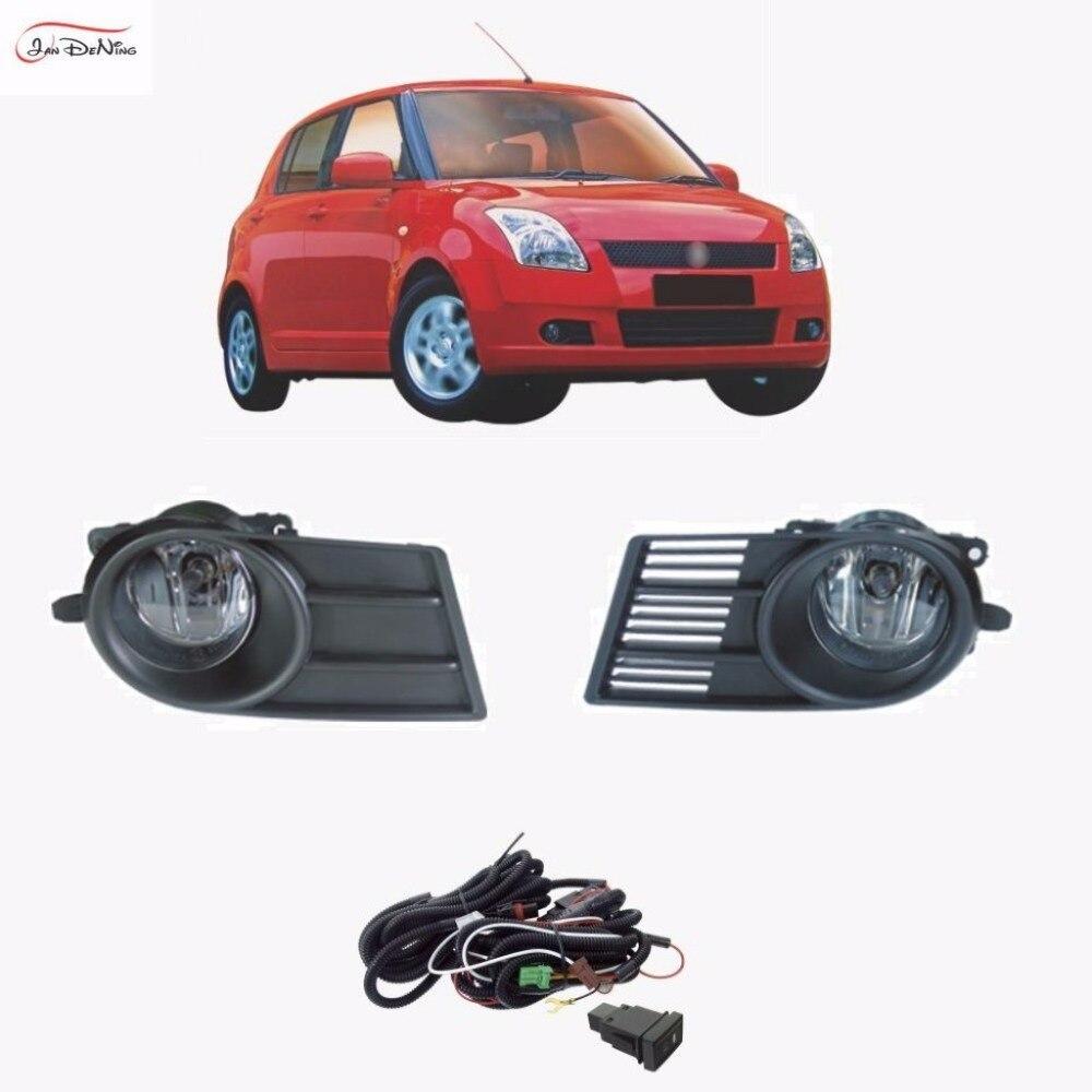 JanDeNing Автомобильные Противотуманные фары для Сузуки Свифт 2005-2006 передняя противотуманная фара свет лампы замена монтажный комплект (одна пара)