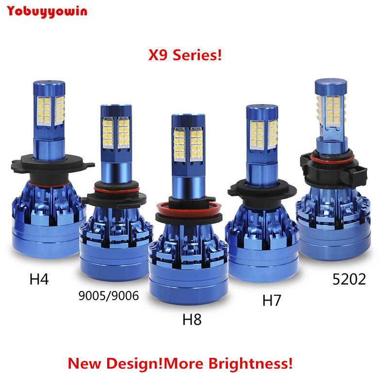 Новое поступление plug & play x9 Turbo водить авто фар H4 H7 H8 H9 H11 9004 9005 9006 DRL днем Бег свет canbus ламп накаливания