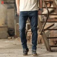 2017 New Fashion Autumn Winter Elastic Washed Straight Slim Fit Jeans Men Cotton Denim Good Quality