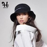 Furtalk נשים מותג האופנה הקיץ של כובע קש כובע דלי כותנה רקמה לנשים עם קיפול גדול-עד אפס מקום Packable כובעי