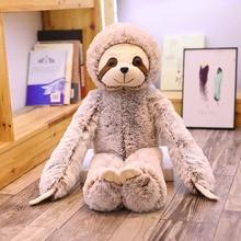 цена на Simulation Sloth Baby Doll Lifelike Sloth Plush Toys Stuffed Dolls Kids Toys Lovely Doll Girlfriend Gifts