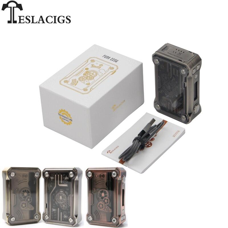 Original Teslacigs Tesla Punk Mod boîte Vape 220 W soutien RDA/RTA/RDTA E Cigarettes Mod pour Vaper Sigaretta Elettronica