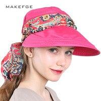 Sombreros Women 2018 Fashion Summer Hats For Women Chapeu Feminino Visors Cap Sun Collapsible Anti Uv