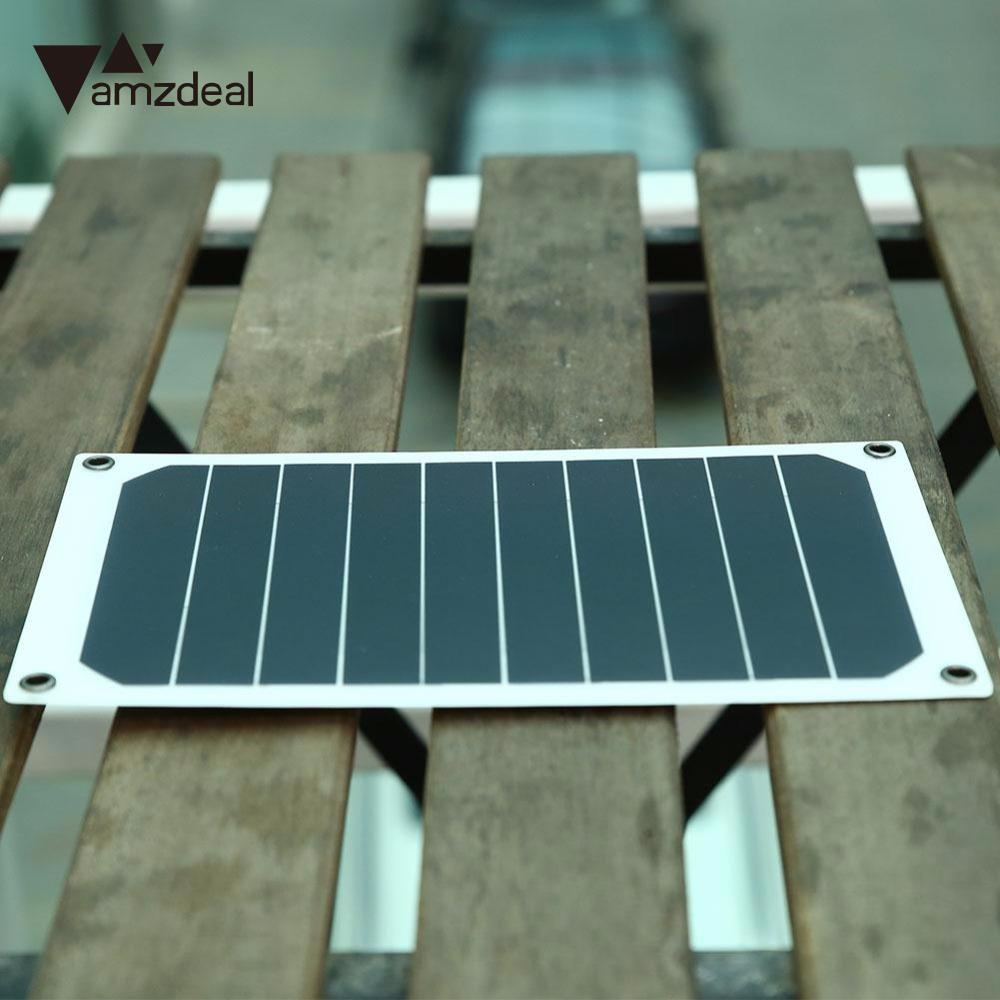 amzdeal Flexible Solar Charging Board Solar Panel charger Portable Power Bank Smart Mobi ...