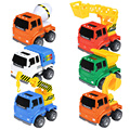 6 PCS Truck Fall Children Toy Car Dumpers ABS Engineering Vehicle Model Simulation Excavator Inertia Gift Diecasts Toys Vehicles
