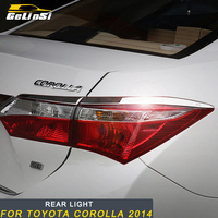 Gelinsi For Toyota Corolla 2014 2018 Car Styling Rear Light Lamp Cover Trim Frame Sticker Exterior Accessories