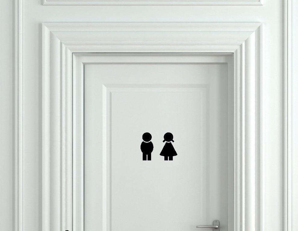 Obviously Design Boys And Girls Washroom Toilet Bathroom Sign Door