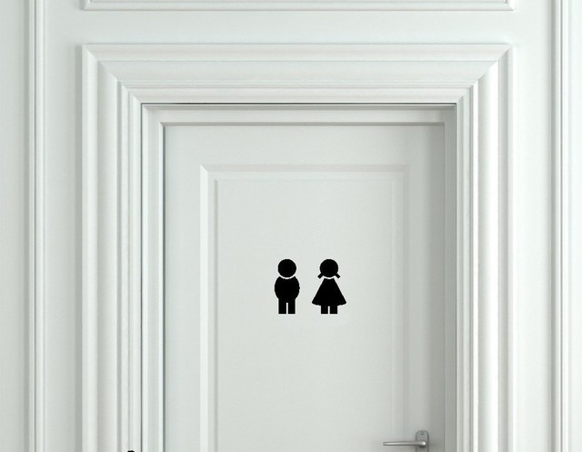 Obviously Design Boys And Girls Washroom Toilet Bathroom Sign Door ...