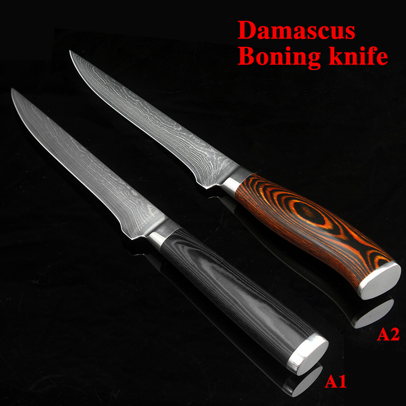 5 5 inch damascus boning knives utility Japanese vg10 damascus steel chef knife Micarta handle Professional