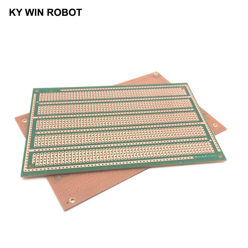 1 Uds. DIY 10*15CM PF de un solo lado prototipo de papel PCB matriz de prueba Universal tablero de circuito de cinco agujeros 10x15CM para Arduino Radioenlace Mini MÓDULO DE OSD para Mini PIX/controlador de vuelo Pixhawk de RC Drone