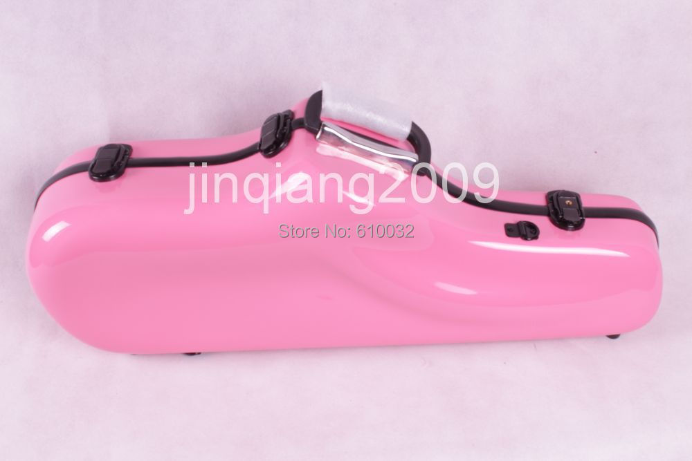 Alto saxophone Glass Fiber case Light Durable Lock Blue New # pink  color alto saxophone glass fiber case light durable lock blue new white color